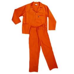 Pinnacle Size 36 Polycotton Safety Overall in Orange