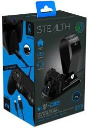 Stealth Playstation 4 Docking Station With Headset Stand - Black PS4