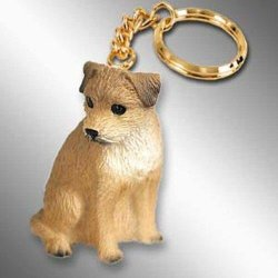 Border Terrier Tiny Ones Dog Keychains 2 1 2 In