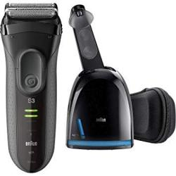 Braun Series 3 Proskin 3070CC Men's Electric Foil Shaver Rechargeable Electric Razor And Clean & Charge Station Black