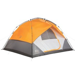 Coleman 7 Man Fast Pitch Instant Dome Tent In Orange