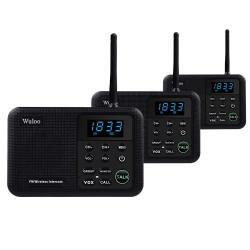 Wuloo Intercoms Wireless For Home 1 Mile Range 22 Channel 100 Digital Code Display Screen Wireless Intercom System For Home House Business Office Ro