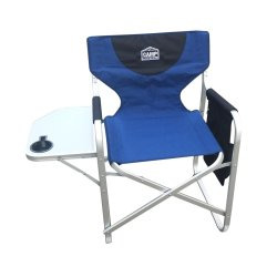 Campmaster - Aluminium Directors Chair With Side Table