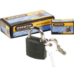 Bulk Pack X 12 Padlock Zenith Iron 25MM Boxed
