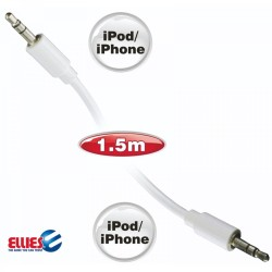 Ellies 1.5m Male To Male Mini Jack Cable For Apple iPod