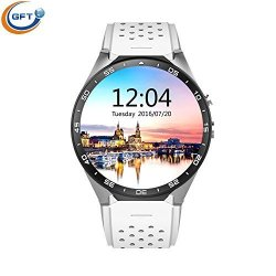 GFT KW88 Android 5.1 Fitness Watch Ogs Capacitive Screen Round Dial Smartwatch With Camera For Ios A