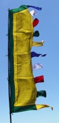 Radiant Heart 6 Foot Tall Vertical Prayer Flags - Victory Banner Sutra From Studios