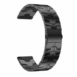 LDFAS Titanium Bands 20MM Titanium Metal Quick Release Watch Strap With Enhanced Durability Version Compatible For Samsung Galaxy Watch 42MM ACTIVE 2 Garmin Venu vivoactive 3 Smartwatch