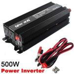 New Sun 500W 1000W Peak Power Inverter Dc 12V To Ac 110V Car Converter 60HZ Dual Usb-outlets 3.1A 5V Portable Battery Charger Co