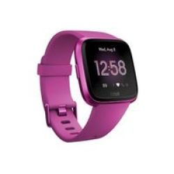 Fitbit Versa Lite Fitness Smartwatch Mulberry and Mulberry Aluminium