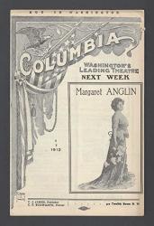 "Julian Eltinge ""fascinating Widow"" Female Impersonator 1912 Washington D.c. Program"