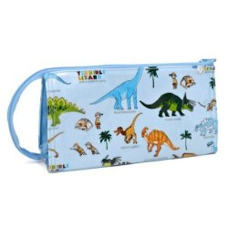 Kids Pen Case Smart Capacity Of Discovery Explore Made In Japan N5013800 Dinosaur Continent Light Blue