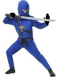 Charades Big Boys' Blue Ninja Master 4 Piece Costume LG
