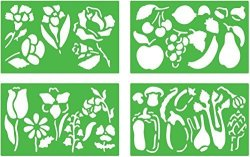 Quercetti Pack Of 4 Flora Stencils