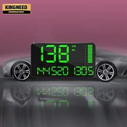 Kingneed Gps Speedometer Odometer Hud Digital Display 5.5 Inch Mph kmh With Over Speeding Alarm For All Cars Vehicles
