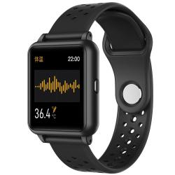 P29 1.3INCH Ips Color Screen Smart Watch IP67 Waterproof Support Temperature Monitoring heart Rate Monitoring blood Pressure Monitoring blood Oxygen Monitoring sleep Monitoring Black