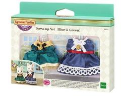 Sylvanian Families Dress Up Set in Blue & Green