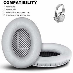 Premium Replacement Ear Pads For Bose QC35 & QC35II Headphones Made By Gevo- Comfortable Adaptive Memory Foam And Extra Durable