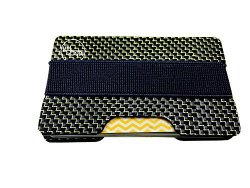 Carbon Fiber Glossy Money Clip Credit Card Mgcftan Business Card Holder 2 Plates Gold