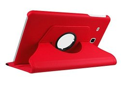 """Cleverline CVTABEROT10G Imitation Leather Case For Samsung Tab E 9.6""""RED"""