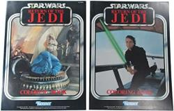USA Coloring Books 1983 Vintage Star Wars Kenner Pair Luke Skywalker And Max Rebo Band