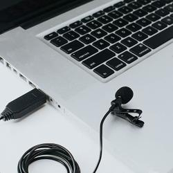 USB Lavalier Lapel Clip-on Microphone - Professional Grade Omnidirectional Condenser Microphone For PC Computers & Mac - Perfect