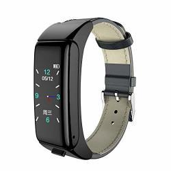 Larry-x Smart Bluetooth Headset Bracelet Waterproof 2 In 1 Comfortable Bluetooth Earphone Bracelet With Heart Rate Health Monitoring Phone Watch For Women And Men