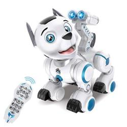 Fisca Remote Control Robotic Dog Rc Interactive Intelligent Walking Dancing Programmable Robot Puppy Toys Electronic Pets With L