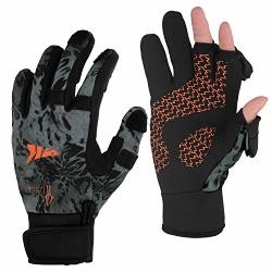 Kastking Mountain Mist Fishing Gloves - Cold Winter Weather Fishing Gloves - Fishing Gloves For Men And Women - Ideal As Ice Fis