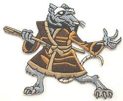 Master Splinter Embroidered Iron On Patch Rare Tmnt Teenage Mutant Ninja Turtles Badge - Free Shipping