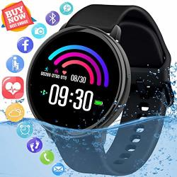Smart Watch Fitness Tracker Watch With Heart Rate Monitor IP67 Waterproof Bluetooth Smartwatch Sports Activity Tracker With Pedometer Smart Bracelet For Men Women Kids