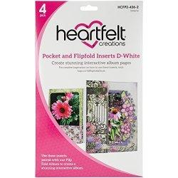Heartfelt Creations D-white Flipfold Inserts
