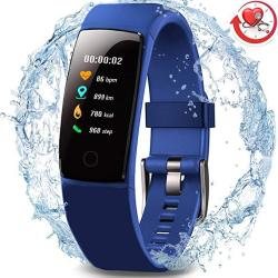 Morepro Waterproof Health Tracker Fitness Tracker Color Screen Sport Smart Watch Activity Tracker With Heart Rate Blood