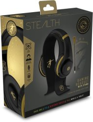 Stealth Xp - Gaming Headset Bundle With Stand - Gold black Pc gaming