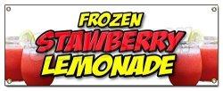 Frozen Strawberry Lemonade Banner Sign Cold Refreshing Slushie Drink