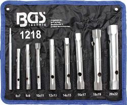 Bgs Technic 1218 - Set Of Tube Wrenches 8 Pieces 6 To 22 Cm