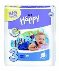Bella Baby 72 Nappies Size 3 Midi Big Pack