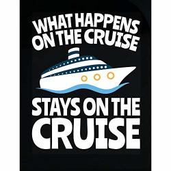 Vacation Cruise Funny What Happens On The Cruise - Transparent Sticker