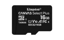 32GB Kingston Micsdhc Canvas Select Plus 100R A1 C10 Card + Adp