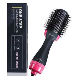 Charminer One Step Hair Dryer And Volumizer Negative Ion Generator Hair Curler Brush For Dry Straighten And Curling Hot Air Styl