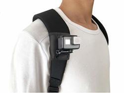 NeewKapt Backpack Shoulder Strap Mount With 360 Degree Adjustable Rotation J Hook Buckle Hook & Loop Fastener Strap For Gopro Hero 2018 Gopro Hero 7