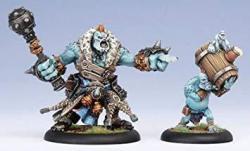Privateer Press Minature Game Hordes Minature Game - Trollblood Warlock Borka Kegslayer And Pyg Keg Carrier Monstrous Miniatures