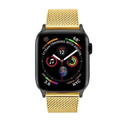 Colton James Mesh Strap For Black space Grey 40MM Apple Watch - Gold