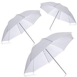 "Neewer New Professional Photography 33"" 83CM Studio Lighting Reflective Flash Translucent White Soft Umbrella Qty: 3"