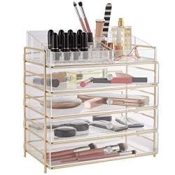 Beautify Large 5 Tier Clear Acrylic