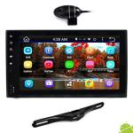 """Premium 6.5"""" Double-din Android Car Stereo Receiver With Bluetooth And Gps Navigation - HD Dvr Dash Cam And Rearview Backup Came"""
