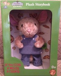 USA Zoobies If You Give A Mouse A Cookie Plush Storybook Book Buddy