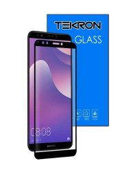 Tekron Full Cover 5D Tempered Glass Screen For Huawei Y7