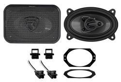 "Rockville 1997-2002 Jeep Wrangler Tj 4X6"" Front Factory Speaker Replacement Kit"