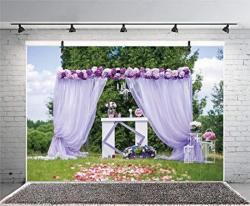 Leyiyi 10X8FT Photography Backgroud Wedding Ceremony Backdrop Outdoor Marriage Party Grassland Rose Garland Arch Door Curtain Table Christain Bridal Shower Photo Portrait Vinyl Studio
